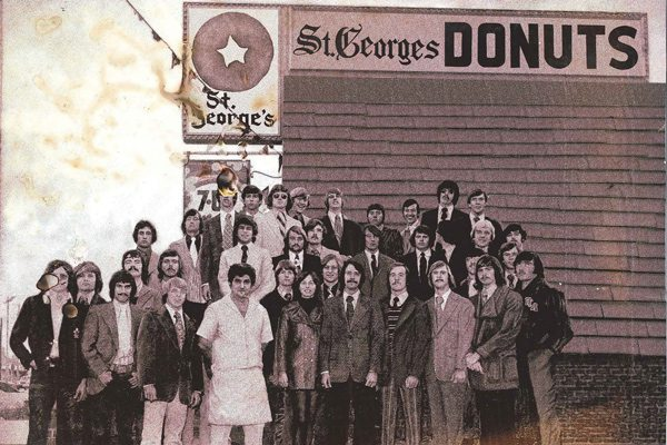 Fraternity brothers donut shop