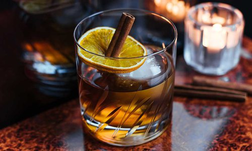 Cinnamon Rosemary Old-Fashioned