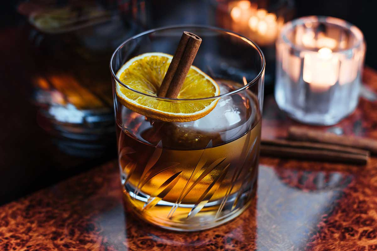Cinnamon Rosemary Old-Fashioned