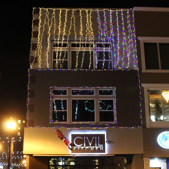 Christmas lights at Civil Kitchen