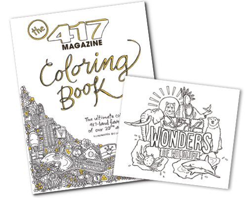 417 Magazine Local Coloring Book