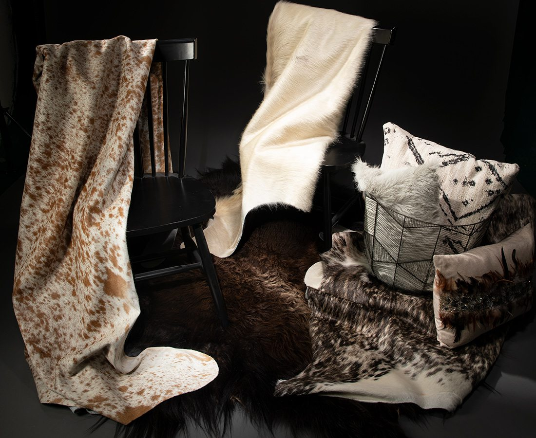 Cowhide rugs from Springfield Leather
