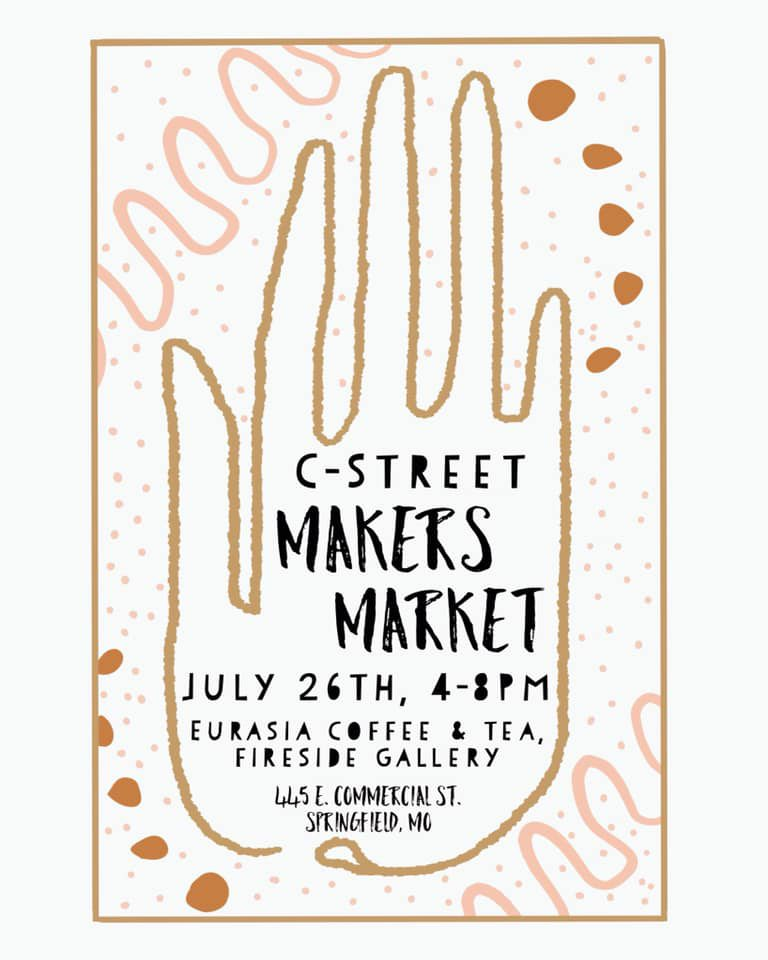 Attend the C Street Makers Market in Springfield, MO.
