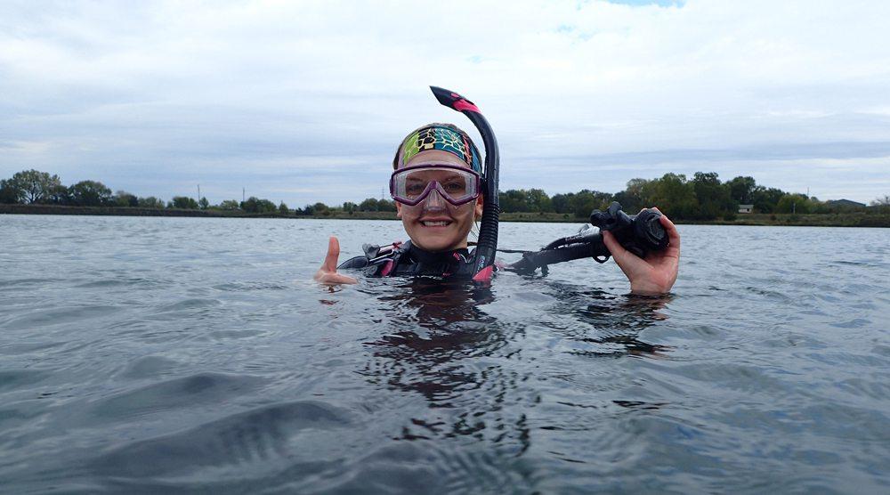 Scuba diving at Table Rock Lake