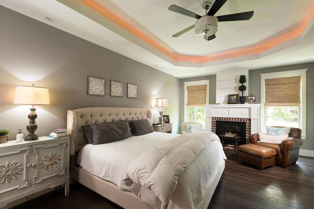 Cottage farmhouse master bedroom