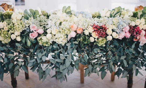 colorful flowers for a wedding