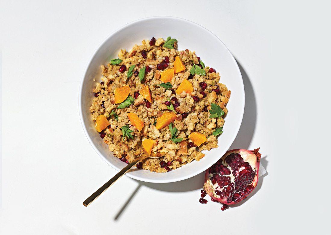 Orange and Pomegranate Fruit Stuffing Recipe