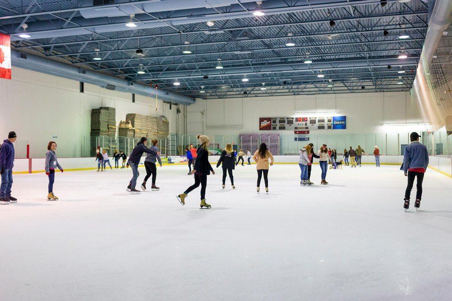 Ice skating at Jordan Valley Ice Park in Springfield MO