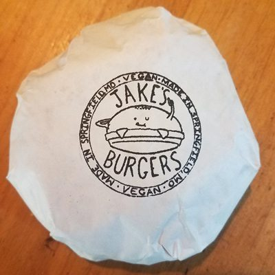 Jake's Burgers Wrapper Springfield, MO