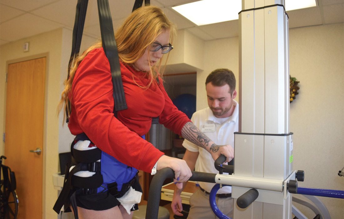 Brooklyn Kellet walks again with LiteGait