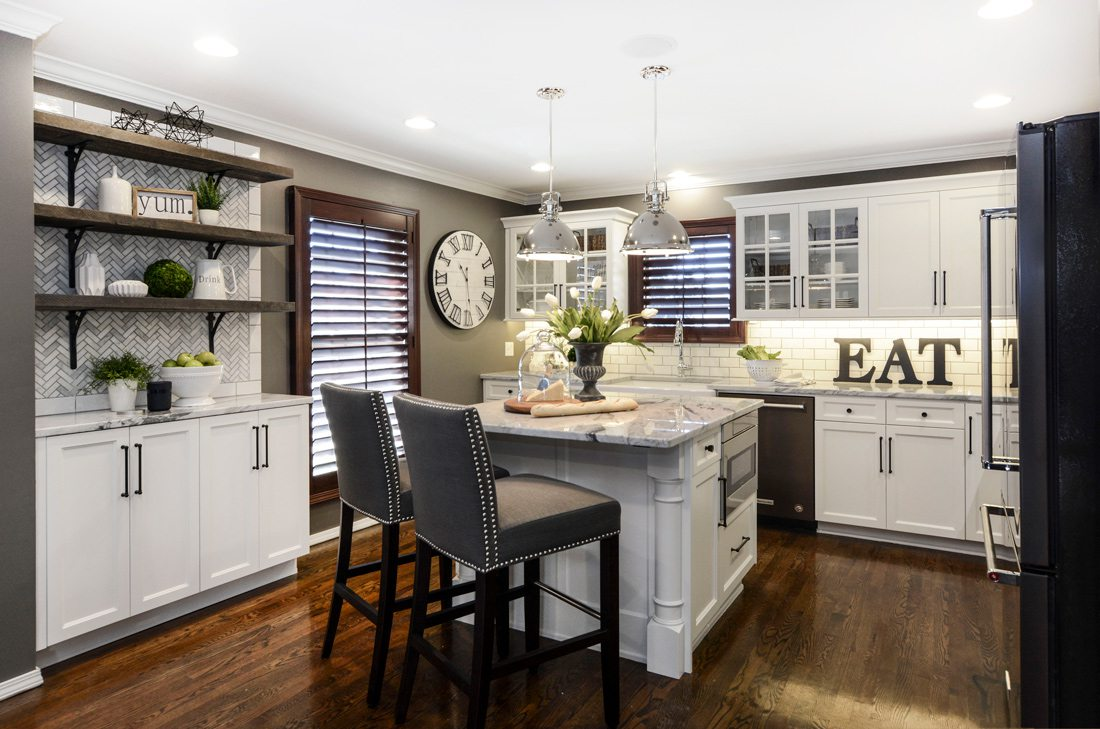Small kitchen island with drawer microwave.