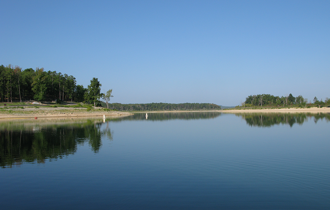 Campground View from Marina on Lake Norfork