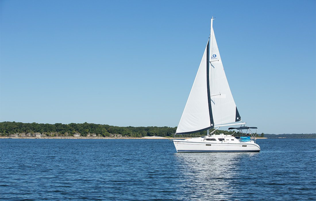 boat on lake stockton