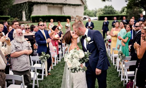 laura swick and bart tacke summer wedding in Springfield