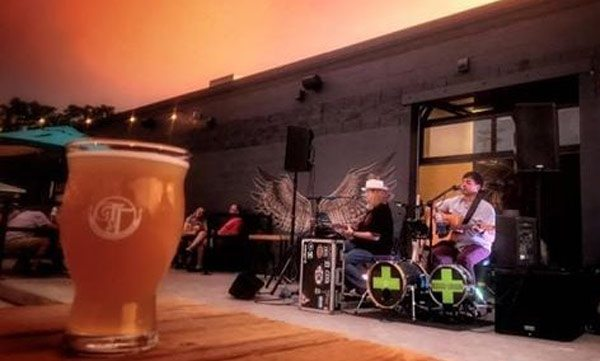 Live Band with Tie and Timber Beer