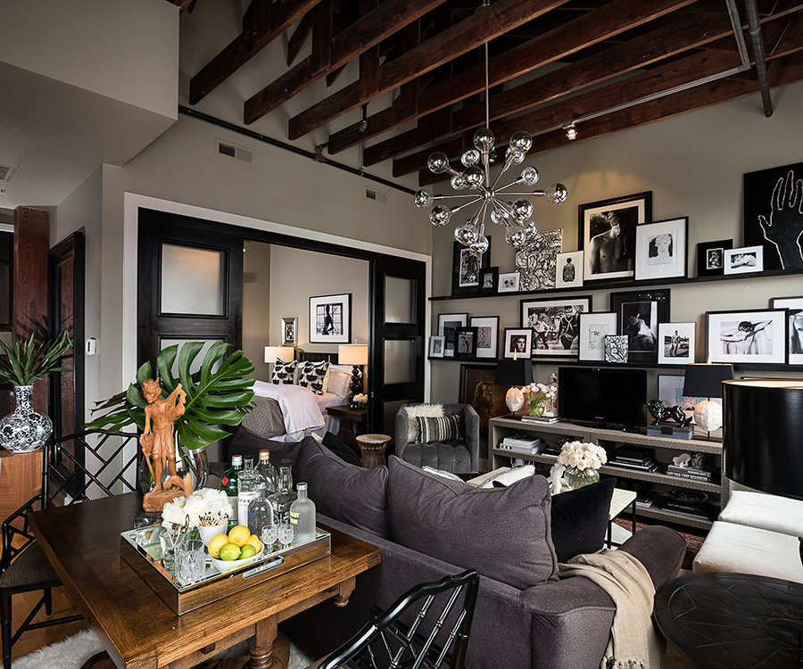 Photo By Brandon AlmsColby Kern And Clay Stacys Living Room Is Undeniably The Most Captivating Space In Loft Highlighting Kerns Collection Of Coffee