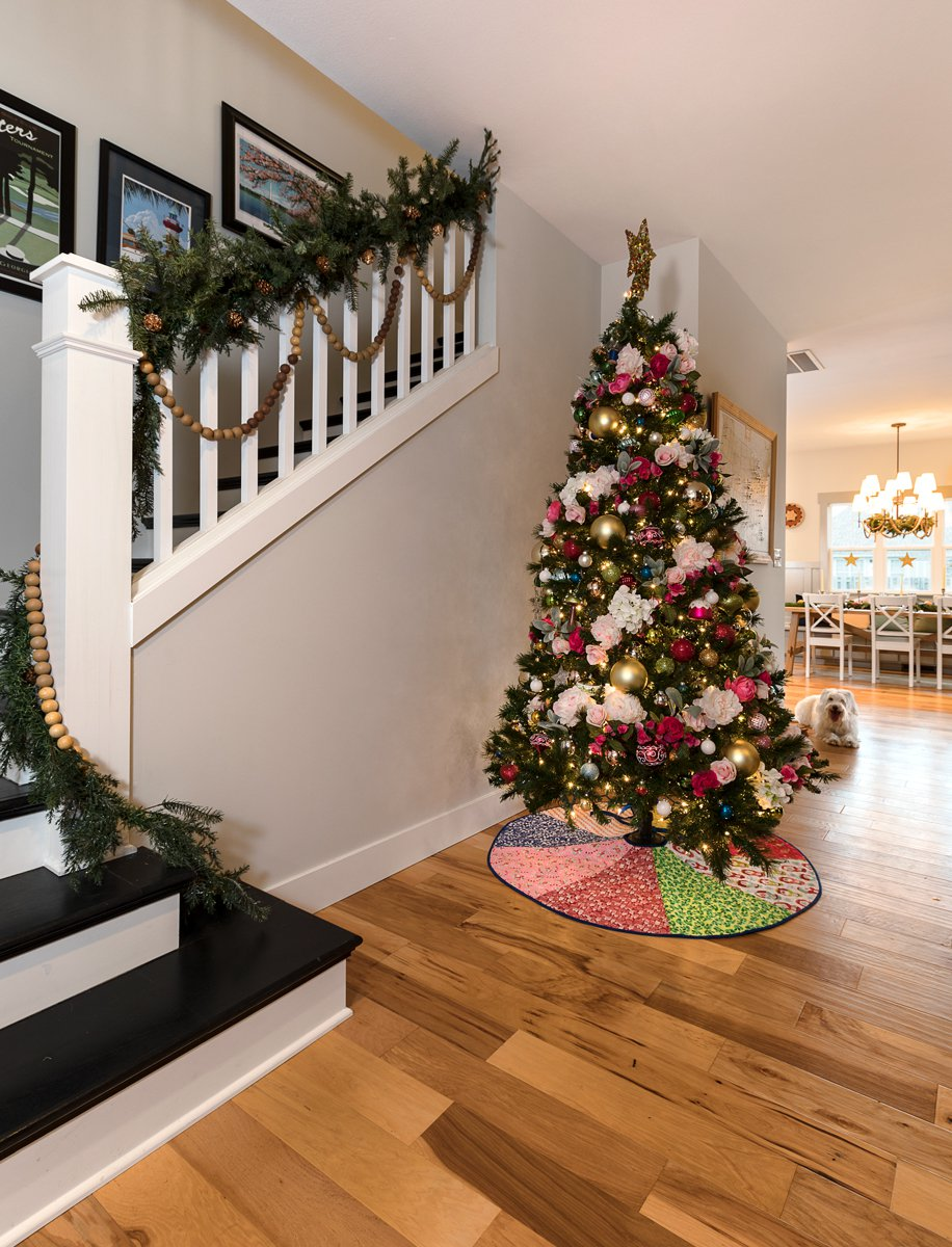 christmas tree and staircase in Springfield, MO
