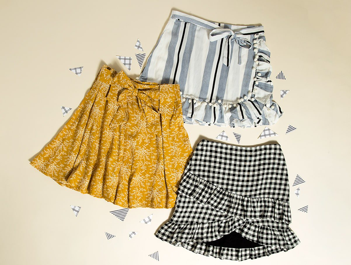 Short skirts are not just for teeny-boppers anymore. The season's sweetest styles come in an array of patterns and slightly longer silhouettes that can translate to any age.