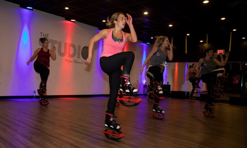 Bounce Off Calories at The Studio's Moon Boot Class