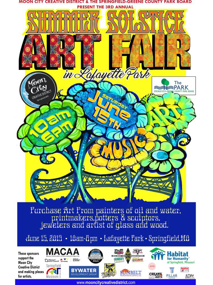 Have a blast at the Moon City Creative District's Summer Solstice Art Fair in Springfield, MO
