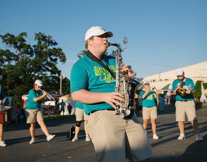 Live music at the Ozark Empire Fair parade.