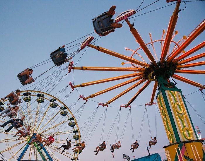 People on the Yoyo ride at Ozark Empire Fair.