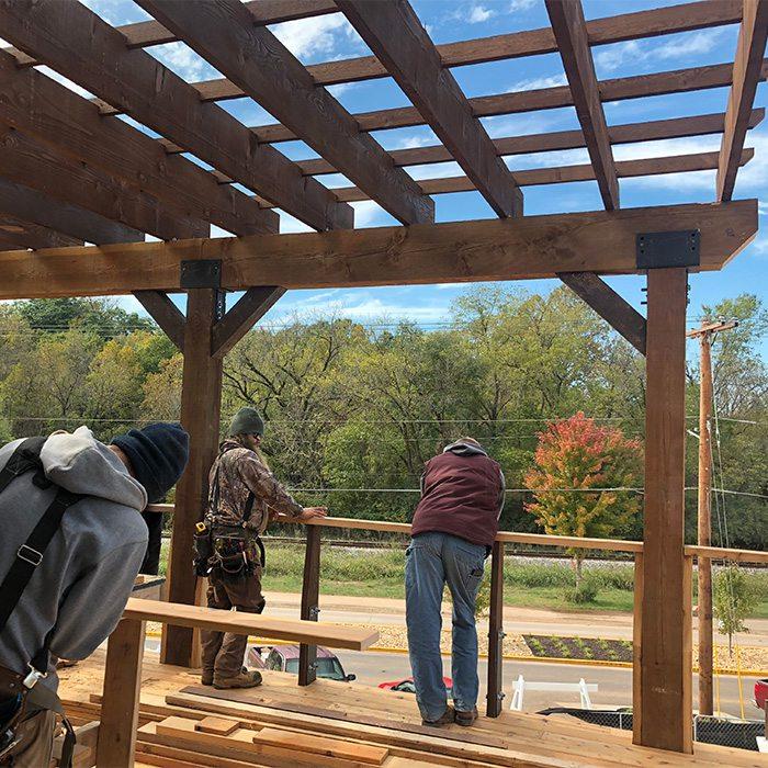 patio under construction