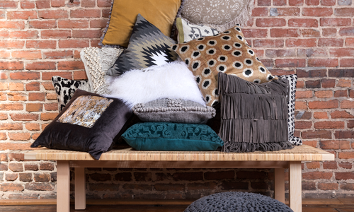Refresh Your Pillows with Velvets, Suedes, Leathers, Fur & Macramé