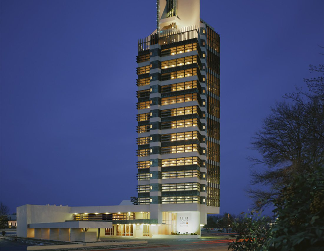 The Inn at Price Tower, realized by Frank Lloyd Wright, in Bartlesville, Oklahoma