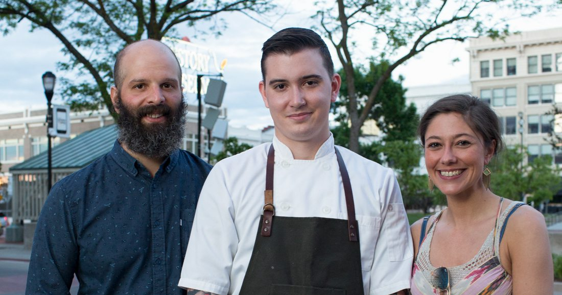Michael Schmitz, Daniel Ernce and Cassidy Rollins Progress Restaurant