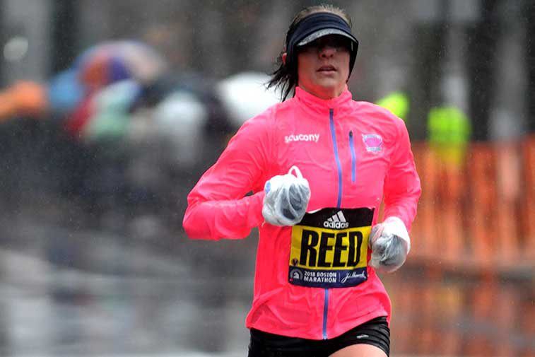 Kimi Reed running in the boston marathon