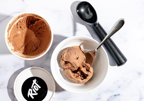 Riot Desserts' dairy-free chocolate ice cream