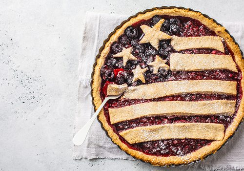 American flag design pie crust