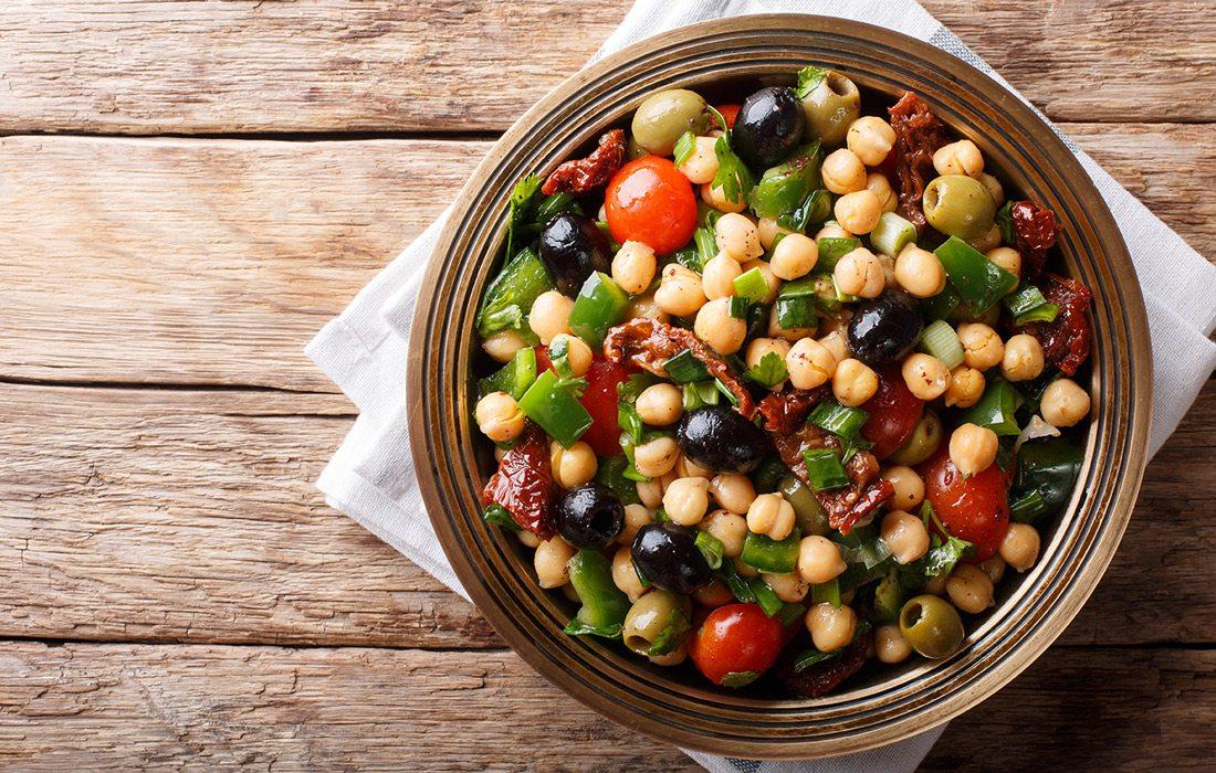 Balela salad stock image