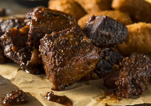 Stock image of burnt ends.