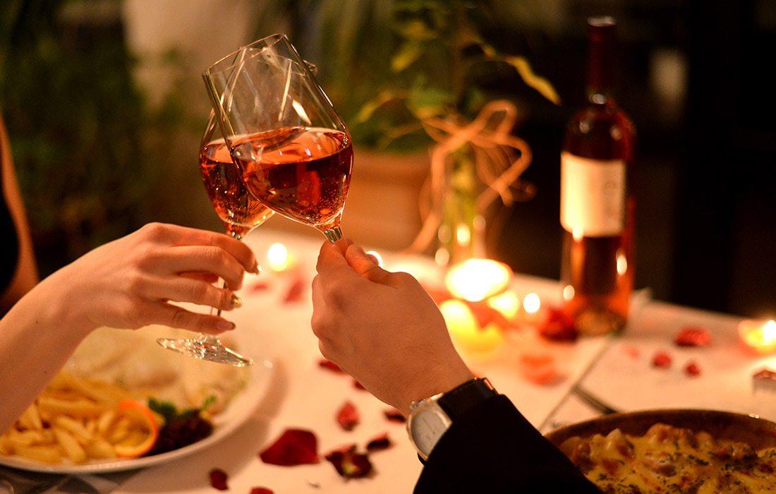 Dinner date stock image