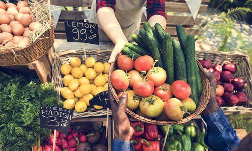 Stock photo of farmer's market