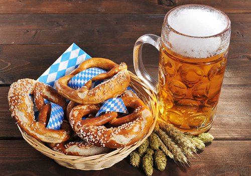 Beer and pretzels Shutterstock image
