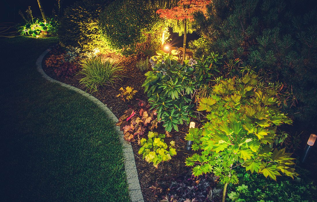 Stock image outdoor lighting space