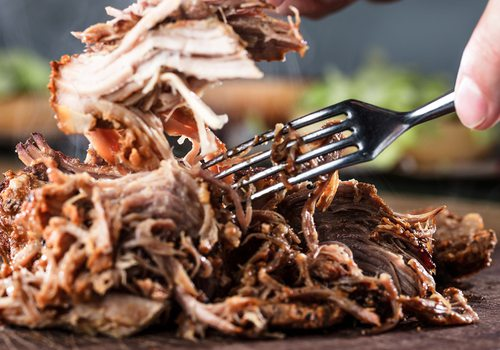Stock image of pulled pork
