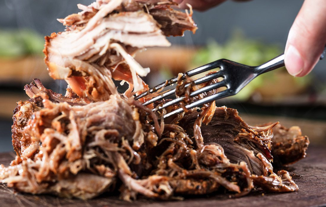 Pulled pork stock image