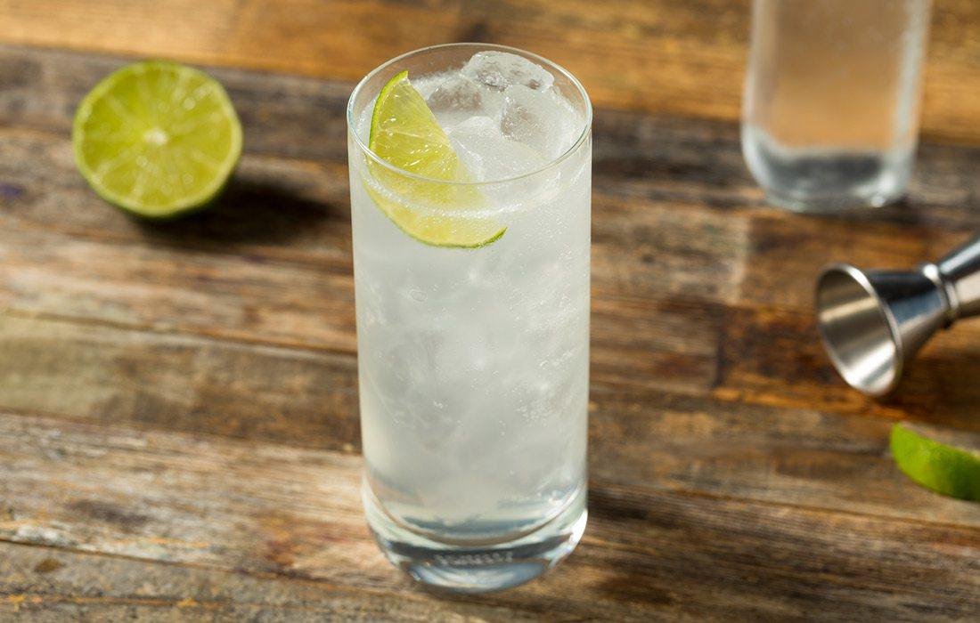 Ranch Water cocktail stock photo