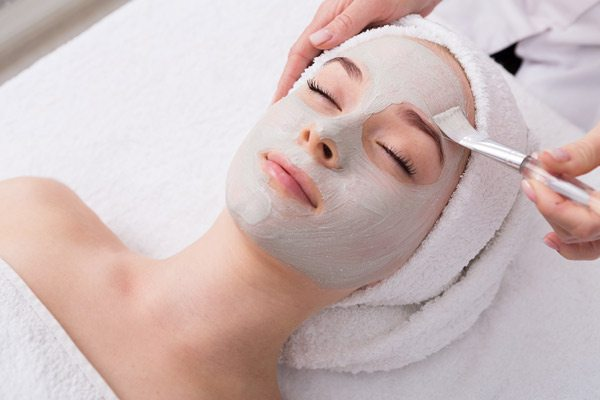 Skin care treatment stock image