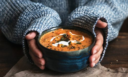 Homemade soup stock photo.