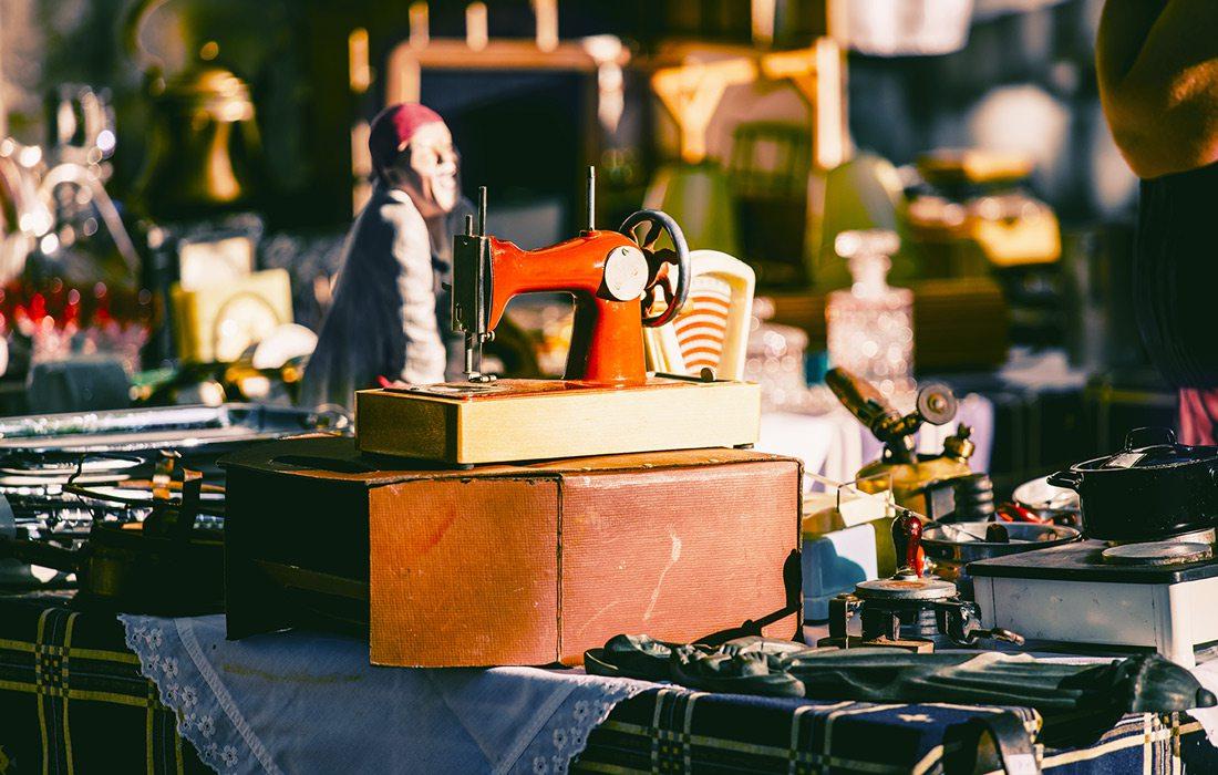 Vintage market items stock image