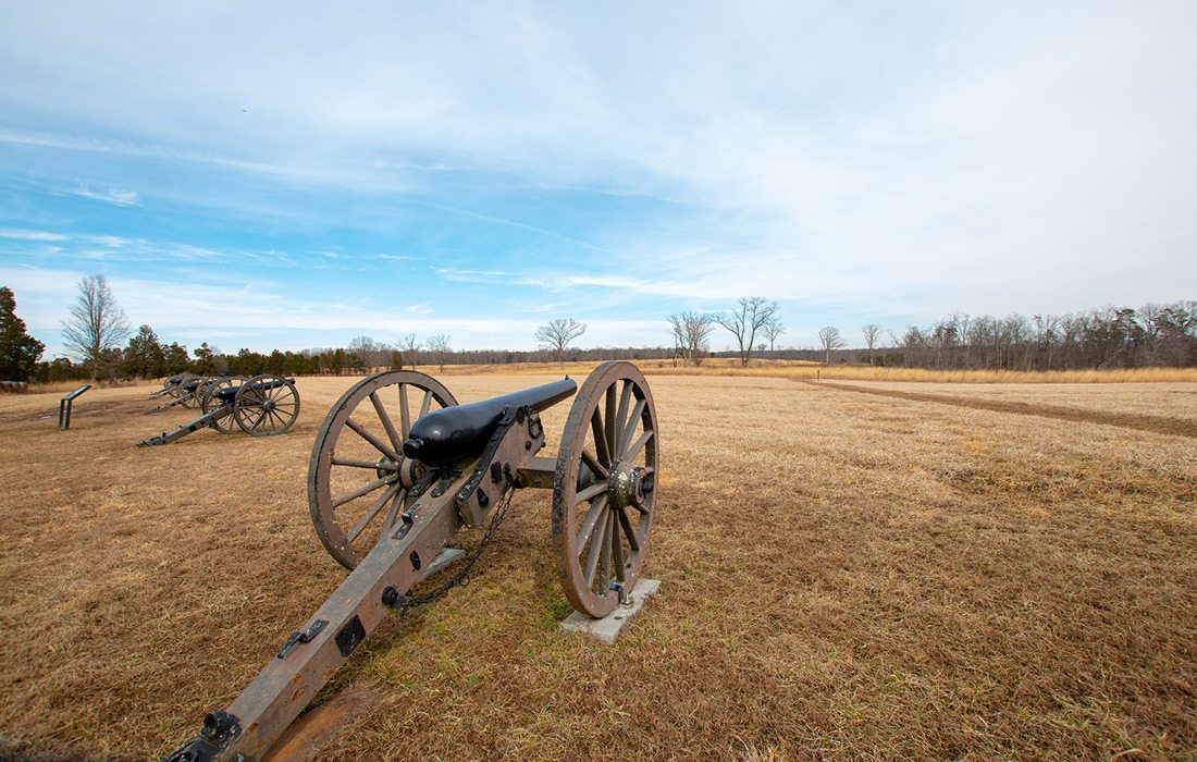 Old cannon at Wilson's Creek National Park