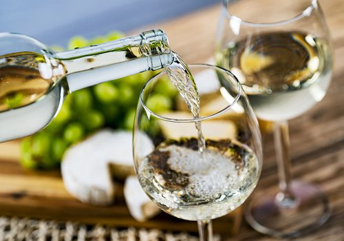 Wine pouring stock image
