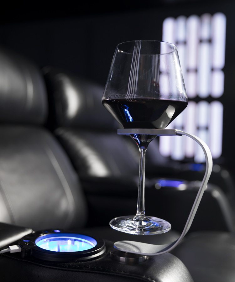 Star wars movie theater wine holder