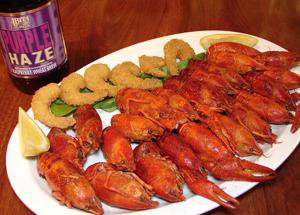 Crawfish/Shrimp  Boiled seafood with sausage, corn and potatoes. Served Saturday nights only.