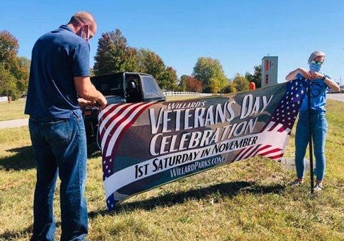 Veterans Day Parade Sign